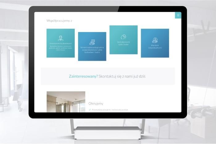 Stalmach - Strefa Szkła - Strona www dla firmy tworzącej produkty ze szkła i luster (projekt)