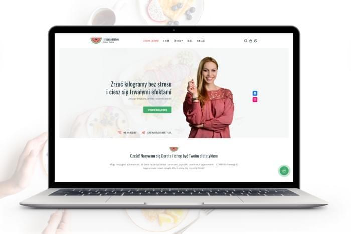 Studio Dietetyki Dorota M - Strona www z modułem sklepu dla studia dietetyki z Czechowic-Dziedzic (projekt + kodowanie)
