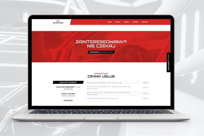DAV AutoSPA - Strona www z modułem rezerwacji dla myjni tir z Pszczyny (projekt + kodowanie)