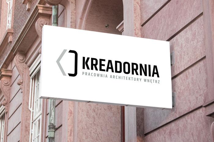 Kreadornia - Logo dla pracowni architektury wnętrz Kreadornia z Pszczyny