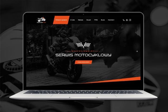 MOTORFUN - Strona www dla serwisu i sklepu motocyklowego z Pszczyny (projekt + kodowanie)