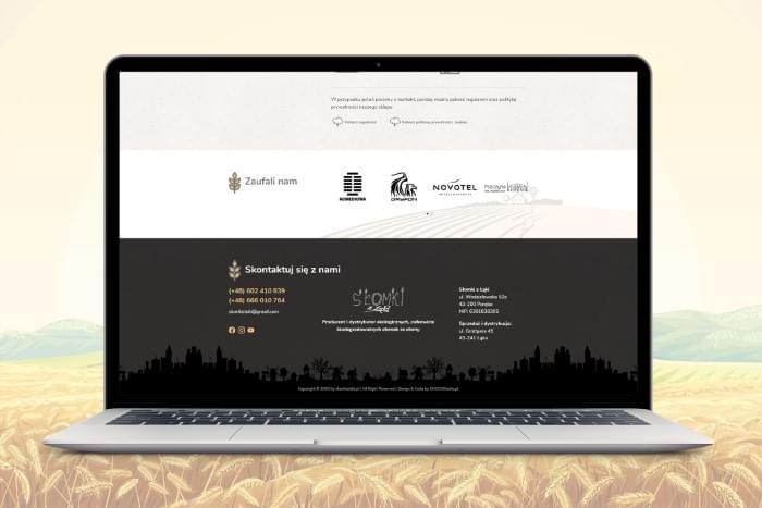 Słomki z Łąki - Strona www dla producenta ekoligicznych słomek ze słomy (projekt + kodowanie)