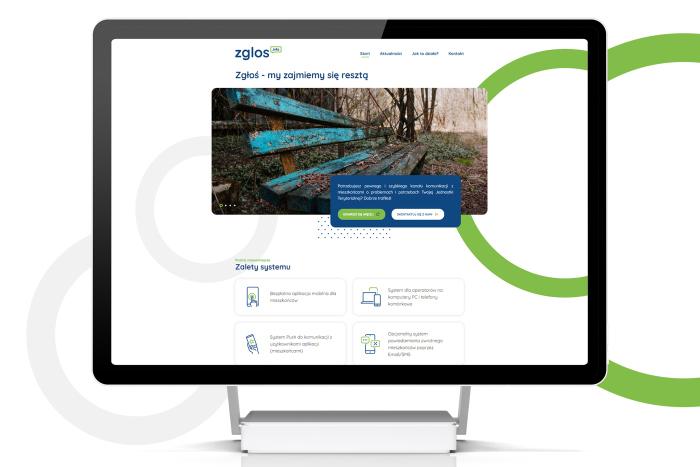 Zgłoś.info - Strona www dla firmy tworzącej system kontaktu mieszkańców z jednostką samorządu terytorialnego z Nadarzyna (projekt + kodowanie)